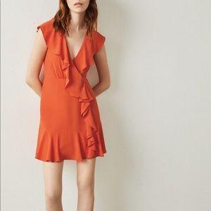 NWT BCBGMAXAZRIA Deborah Ruffle Dress Size 6
